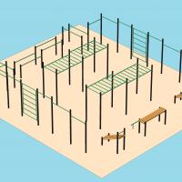Спортивный комплекс для занятий воркаутом